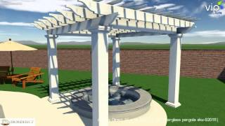 Arbors Direct 14x14sq Stock Pergola Video Tour