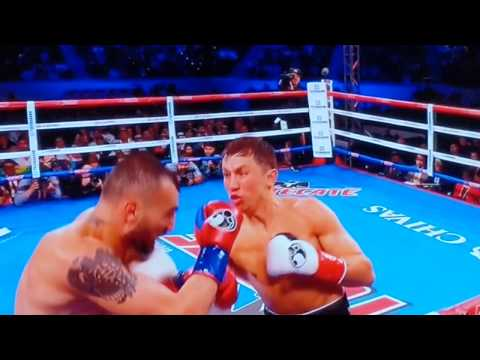 GGG knockout 10 punch combo highlight (slow motion replay)