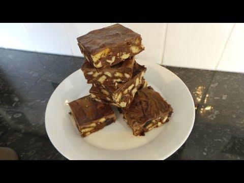 Chocolate Tiffin, Chocolate Refrigerator Cake