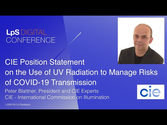 CIE Position Statement on the Use of UV Radiation to Manage Risks of COVID-19 Transmission