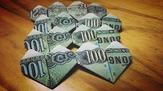 Xếp giấy Origami | Hướng dẫn xếp trái tim đôi bằng tiền giấy mệnh giá 1000 đồng