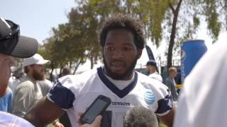 Cowboys running back Alfred Morris on Ezekiel Elliott's abilities to carry a tune