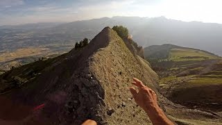 Ultimate Morning Run: Mountain Climber Runs On 2500m High Cliff Edges