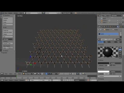 Blender Tutorial Making a 3D Model of Graphene (With a Low Polygon Count)