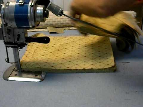 8 Quot Eastman Blue Streak Industrial Fabric Cutter Youtube