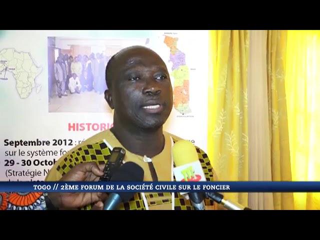 Deuxième édition du forum de la société civile sur le foncier au Togo
