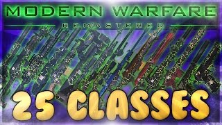 Modern Warfare Remastered: A Class for Every Situation! (25 Custom Class Ideas / Suggestions)