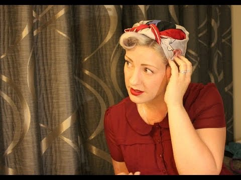 tie 1940s headscarf
