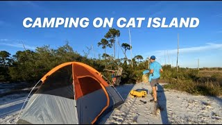 BEACH CAMPING ON CĄT ISLAND MISSISSIPPI OVER NIGHT (SOCIAL DISTANCING ON BARRIER ISLAND)