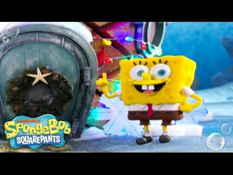 It's A SpongeBob Christmas | 'Santa Has His Eye On Me' Music Video 🎄 | Nick