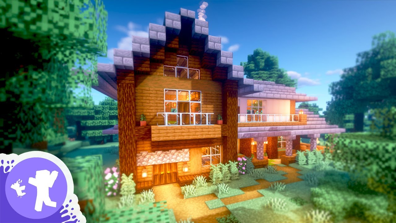 Minecraft How To Build A Spruce Starter House Youtube