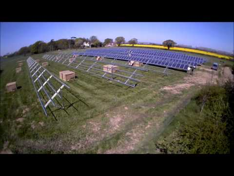 Solar Energy Ground Mount System - 250KW installation in Hayling Island UK