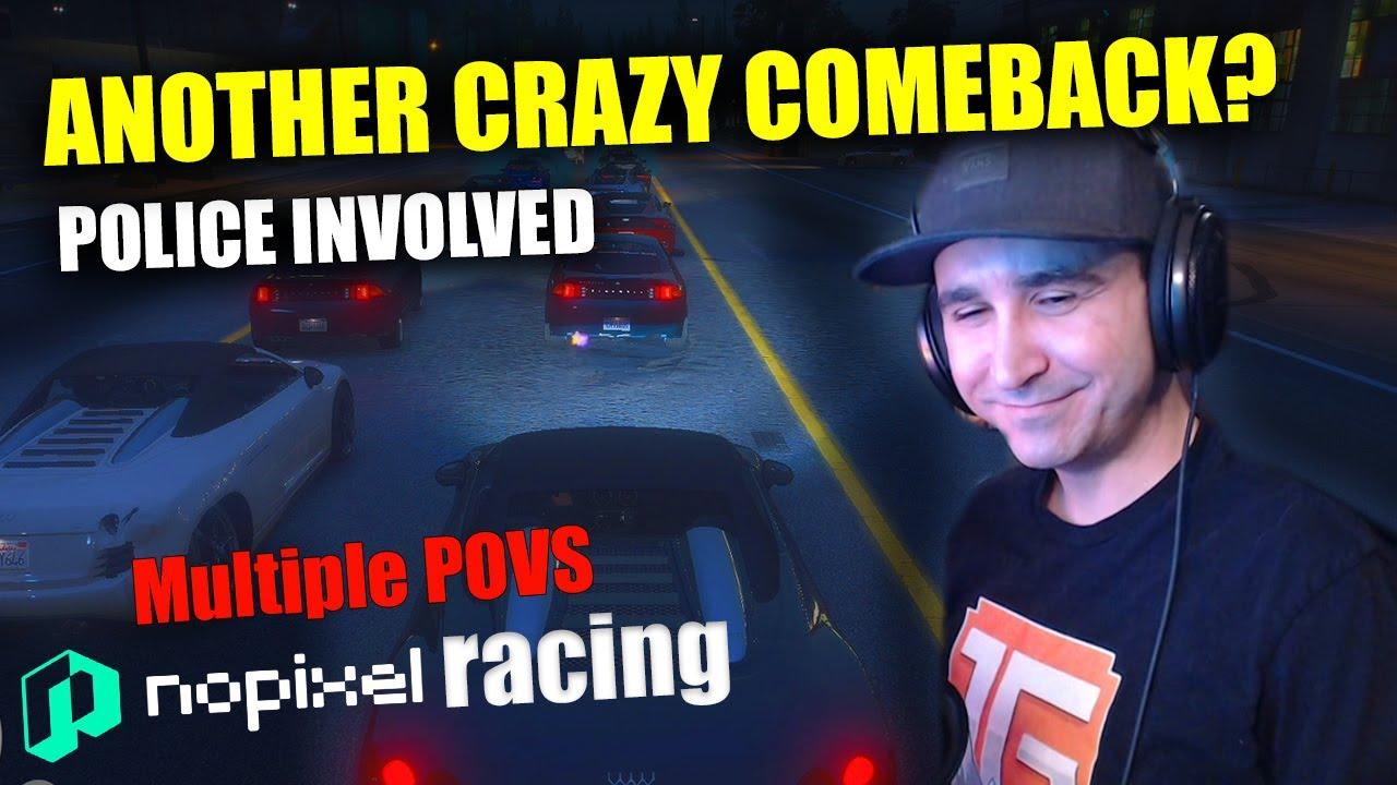 Summit1g ANOTHER CRAZY COMEBACK? (Multiple POVS) (NoPixel Racing)