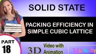 packing efficiency in simple cubic lattice solid state class 12 chemistry subject notes cbse