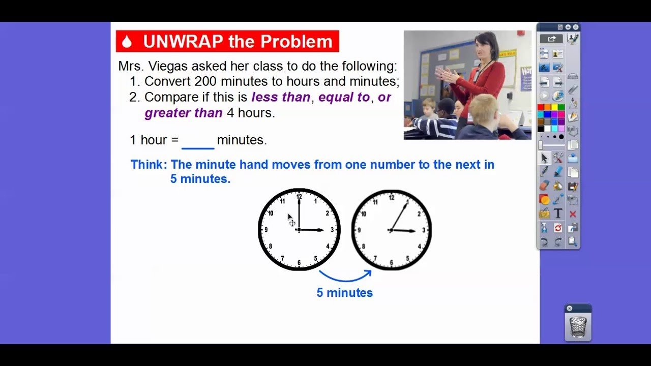 problem solving elapsed time lesson 12.9