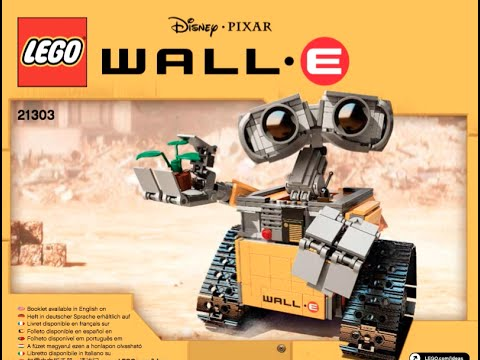 How To Build Disney Lego Walle 21303 Instructions Youtube