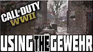 USING THE GEWEHR 43 ON CALL OF DUTY WWII!