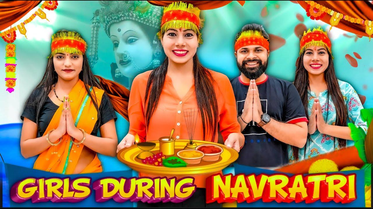 Girls During Navratri | Sanjhalika Vlog