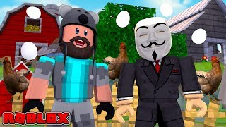 A HACKER JOINED OUR TEAM!! | Egg Farm Simulator | ROBLOX