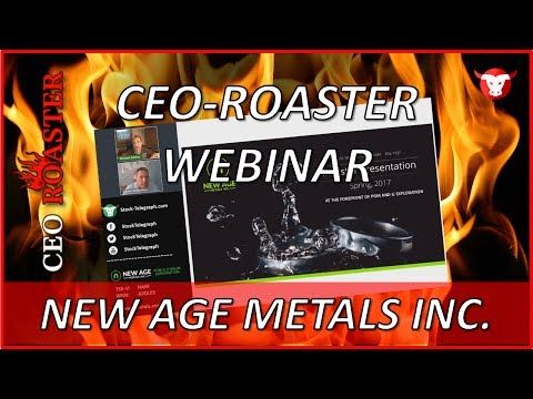 New Age Metals Inc. in a CEO-Roaster Web Conference with Tre