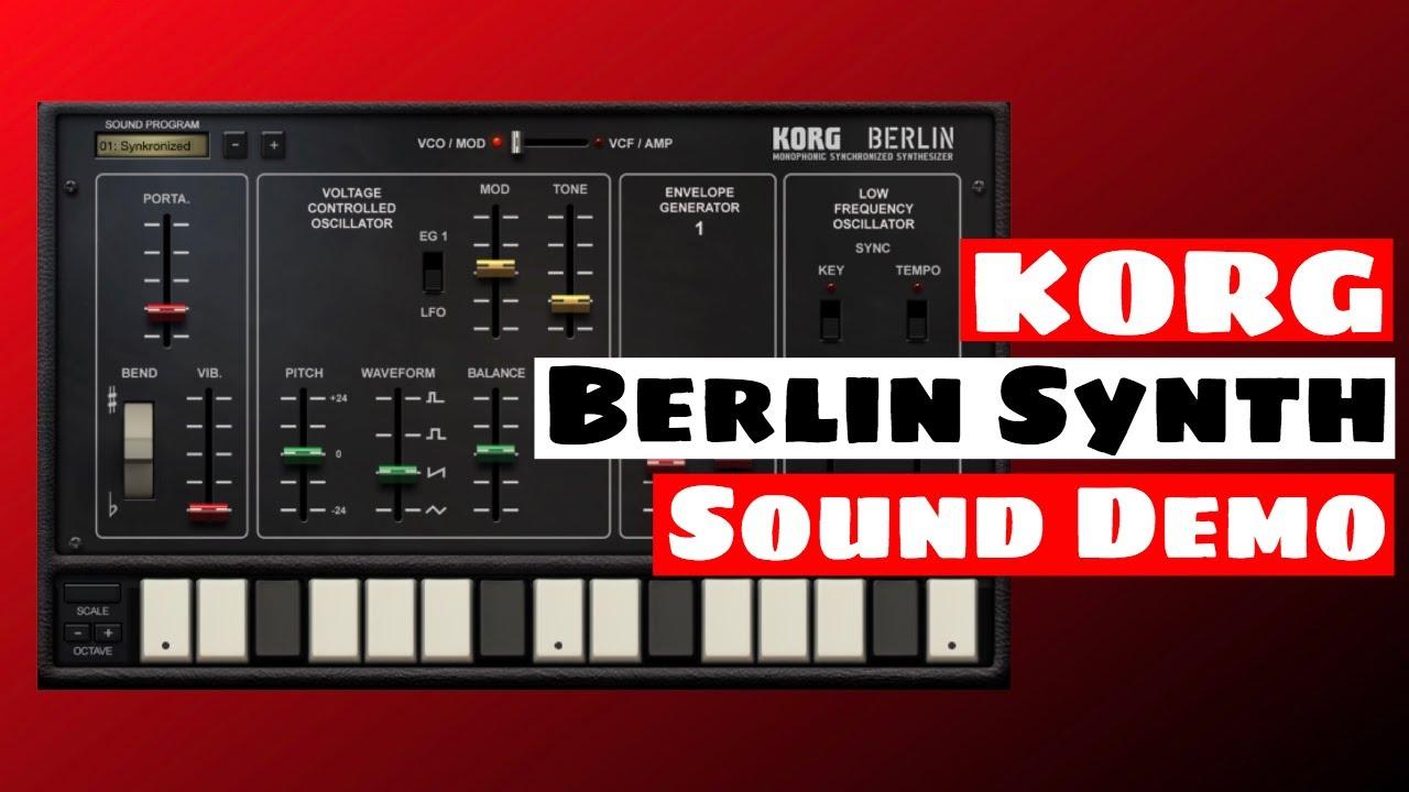 KORG Gadget Berlin Mono Synthesizer - Sound Demo | SYNTH ANATOMY