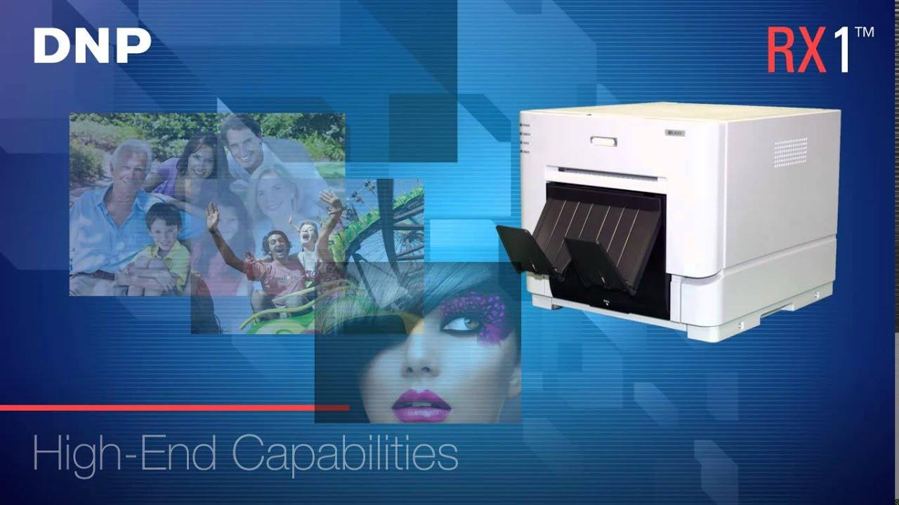 Dnp Ds Rx1 6 Professional Dye Sublimation Photo Printer Youtube