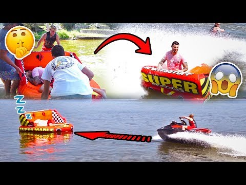 Thumbnail: SAVAGE RAFT WAKE UP PRANK IN THE MIDDLE OF A LAKE **SORRY CHAD**