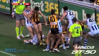 Round 5, 2013: North Melbourne v Hawthorn melee