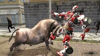 Super X Robot vs Angry Bull Attack Simulator - Red Bull X Fighters - Android Gameplay HD