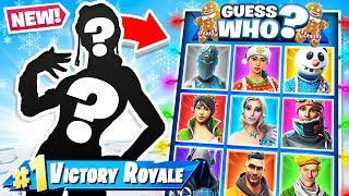 GUESS The SKIN *NEW* GUESS WHO Game Mode in Fortnite Battle Royale