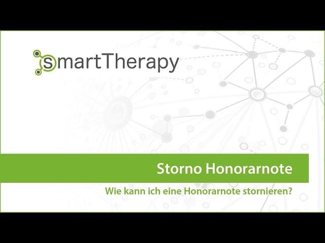 smartTherapy: Honorarnote Storno