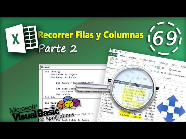 Recorrer Filas Y Columnas Parte 2 Vba Excel 2013 69
