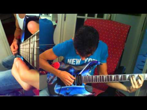 Stratovarius Black Diamond full guitar cover (karaoke breaking track) link in description