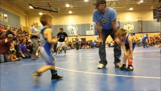 Most Amazing Youth Wrestler Of All Time   Memphis Burkhalter First Youth Wrestling Tournament in Min