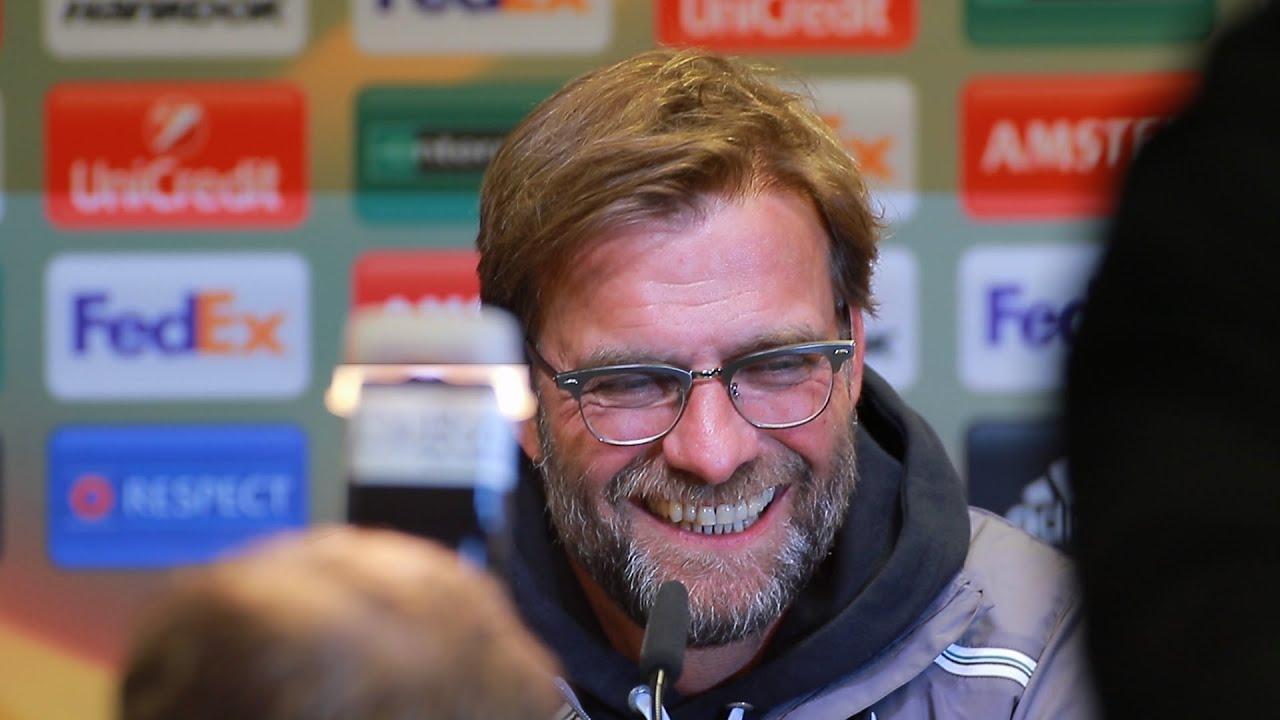 """Pressekonferenz des FC Liverpool mit Jürgen Klopp zum """"Spiel des Jahres"""" gegen Borussia Dortmund"""