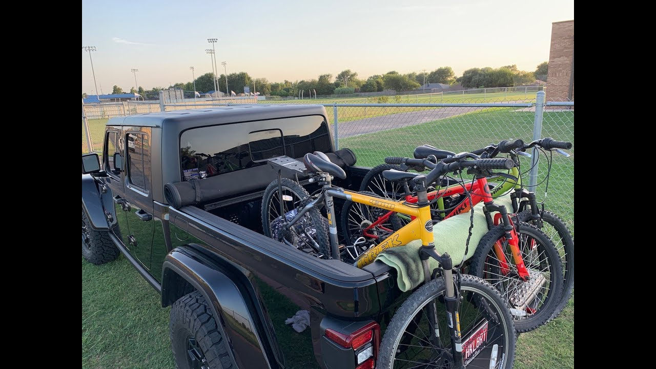 How Are You Hauling Your Bikes In The Jeep Gladiator Jt Youtube