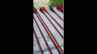 My new bamboo arrows I ordered from China