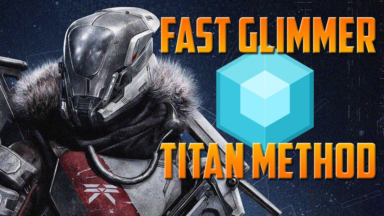 Destiny farm glimmer fast titan method youtube