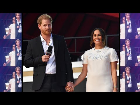 Harry and Meghan Hold Hands at Global Citizen Event