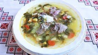 Зеленый борщ рецепт с мясом и без Суп из щавеля с яйцом Зелений борщ рецепт как варить зеленый борщ