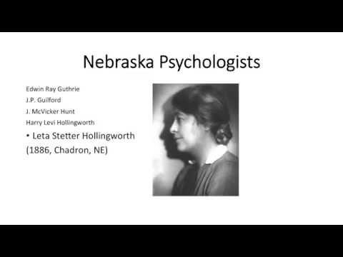 True or False: No internationally-acknowledged scientific psychologist was born in Nebraska