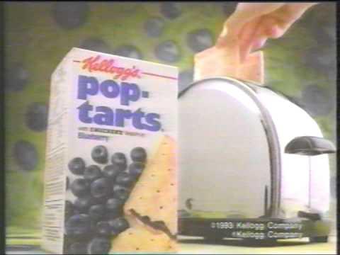 Pop Tarts Commercial 1992 Kellogg's PopTart...