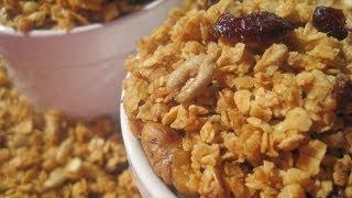 Honey Walnut Granola - How To Make Granola Recipe