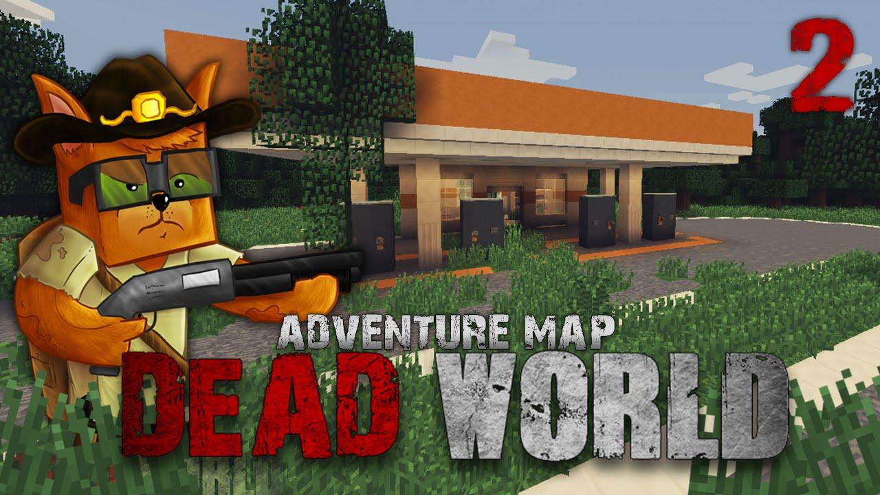 Minecraft Zombie Apocalypse Survival - Dead World Ep 2 Adventure Map ...