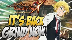 THE EVENT IS BACK! Half Stamina Boss Battles! Seven Deadly Sins Grand Cross