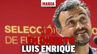 Rueda de prensa de Luis Enrique, tras dar la lista para los partidos ante Croacia y Bosnia