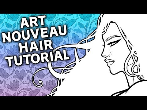 How to Draw & Ink Art Nouveau Hair • Tutorial