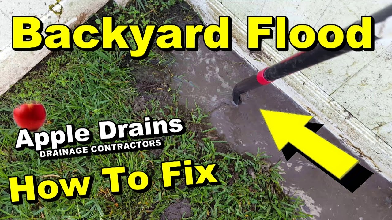 backyard flood needs french drain diy for homeowners youtube
