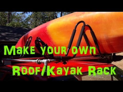Diy Roof Kayak Rack Youtube
