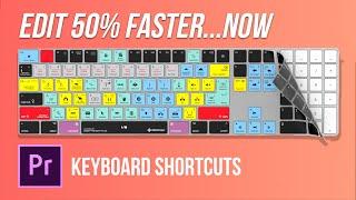 HOW to edit 50% FASTER | Adobe Premiere Pro Keyboard Shortcuts |  Editors Keys